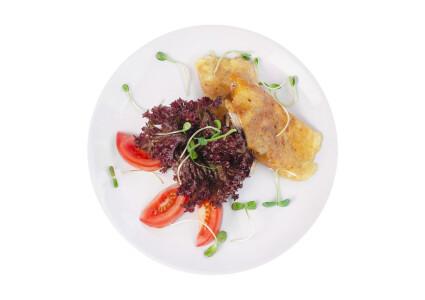 Омлет з шинкою, грибами, помідорами та сиром фото 1