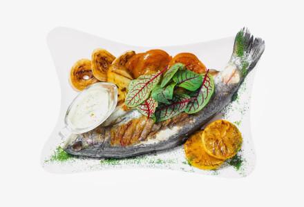 Форель річкова з овочами (гриль) фото 2