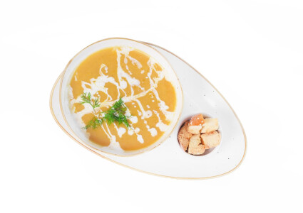 Крем-суп із грибів з крутонами та вершками фото 1