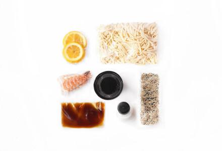 Food box  Локшина удон з тигровою кревекою фото 1