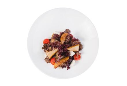 Салат з карамелізованою грушею фото 1