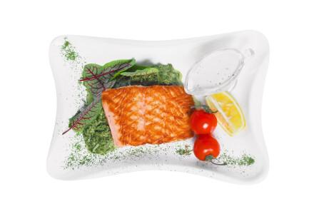 Філе лосося на шпинатній подушці (гриль) фото 2