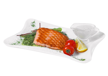 Філе лосося на шпинатній подушці (гриль) фото 1