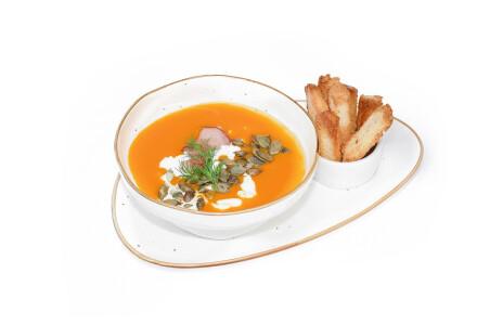 Крем-суп із гарбуза крутонами та насінням гарбуза фото 2