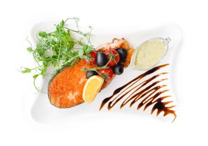 Ніжний стейк лосося (гриль) фото 1